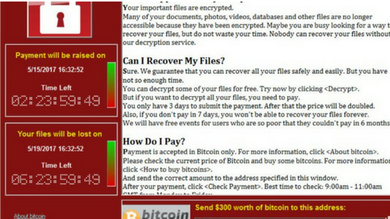 screen wannacry